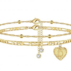 Sweetheart Initial Anklet