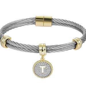 Initial Cable bracelet